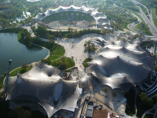 Munich Olympic Stadium. Image © Atelier Frei Otto Warmbronn