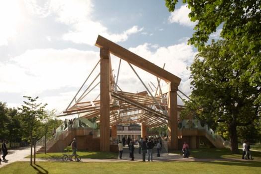 Serpentine Pavilion 2008. Image © John Offenbach