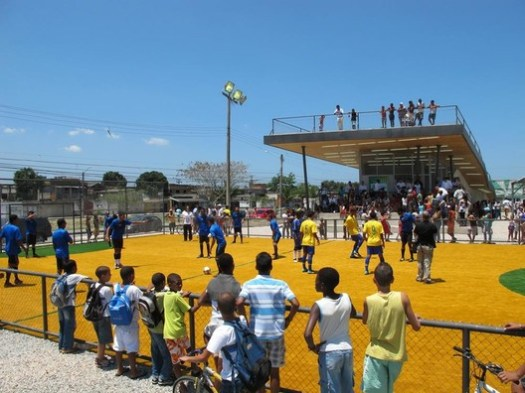 Homeless World Cup Legacy Center. Image Courtesy of Architecture for Humanity