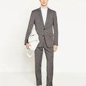 Textured Gray Suit via ZARA