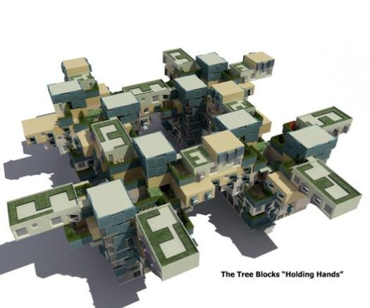 Marwa Al-Sabouni's proposal for Baba Amr. Image Courtesy of Render (Marwa Al-Sabouni & Khaled Komee)