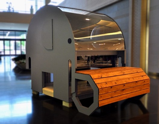 """""""Ellie the Elephant"""" Playhouse, Andres Moreno (2015). Image Courtesy of The Life of an Architect"""