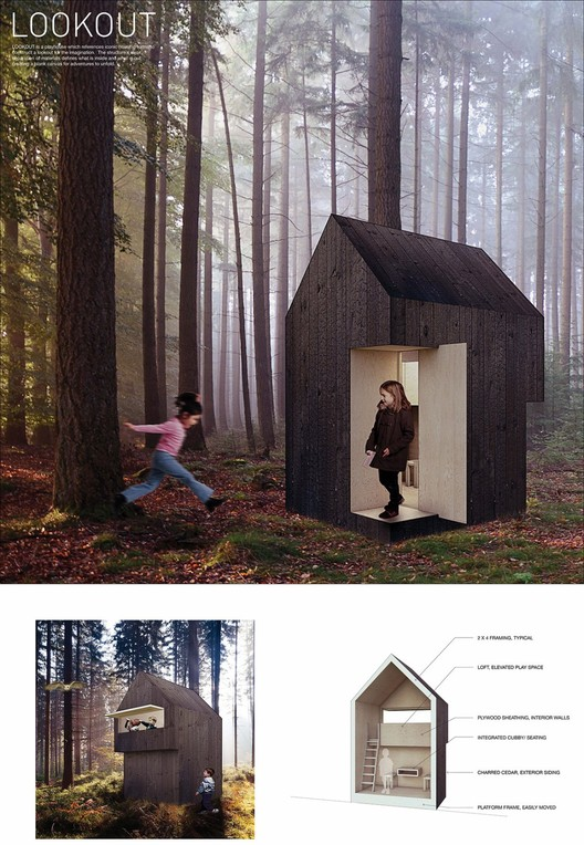 """""""Lookout"""" Playhouse, Zach George and Taylor Proctor (2016). Image Courtesy of The Life of an Architect"""
