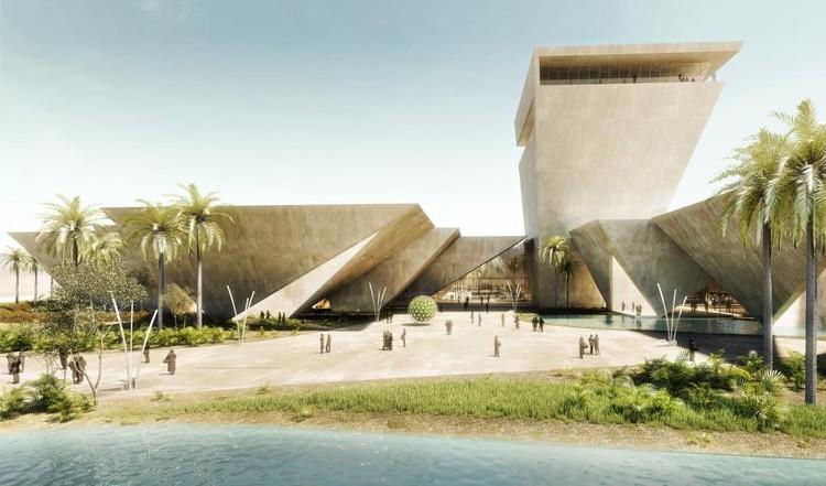 Honorable Mention: Tsampikos Petras & Georgios Chousos. Image via Bibliotecha Alexandrina / International Architectural Competition of the Science City