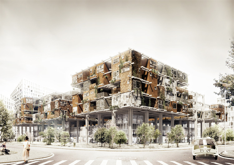S'lowtecture. Housing structure in Wroclaw-Zerniki / Tomasz Broma, Faculty of Architecture, Wroclaw University of Technology. Image Courtesy of Fundació Mies van der Rohe