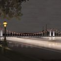 Thames Nocturne / Sam Jacob Studio and Simon Heijdens. Chelsea Bridge. Image © Malcolm Reading Consultants and Sam Jacob Studio and Simon Heijdens