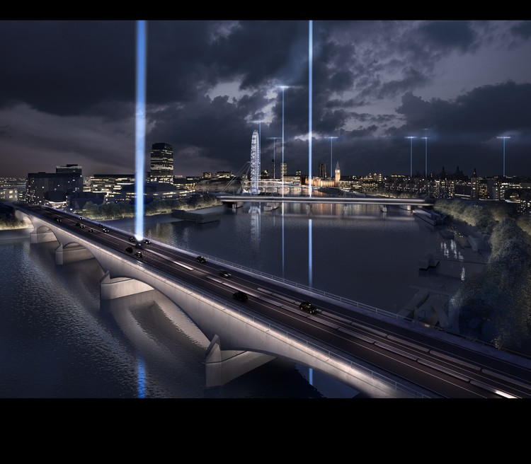 Synchronizing the City: Its Natural and Urban Rhythms / Diller Scofidio + Renfro. Waterloo Bridge. Image © Malcolm Reading Consultants and Diller Scofidio + Renfro