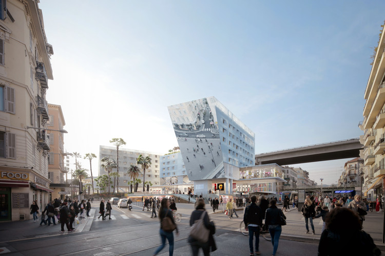 Proposed Station Extension Promotes Urbanism and Social Interaction in Nice, © Clément Blanchet Architecture