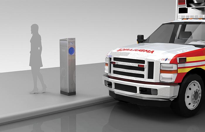 Anti-idling Ambulance Pedestals / Ignacio Ciocchini + MOVE Systems. Image Courtesy of Ignacio Ciocchini and MOVE Systems