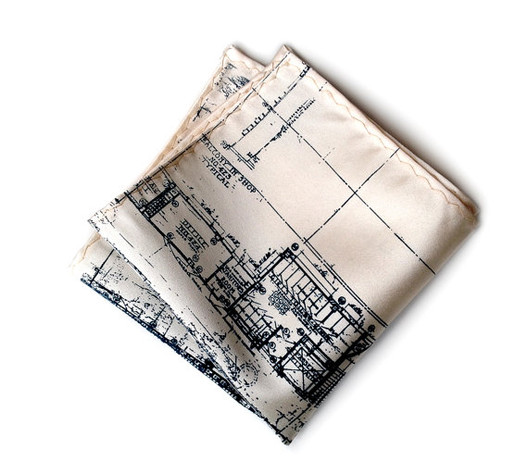 Blueprint Handkerchief / Cyberoptix