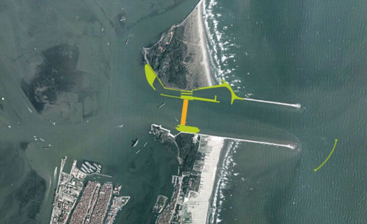 Chioggia Inlet of the MOSE Project. Image Courtesy of MOSE