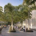 View of Palm Court and Waterfall. Image Courtesy of KAR Properties