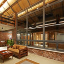 panorama of the new living room. Image © Lu Fei