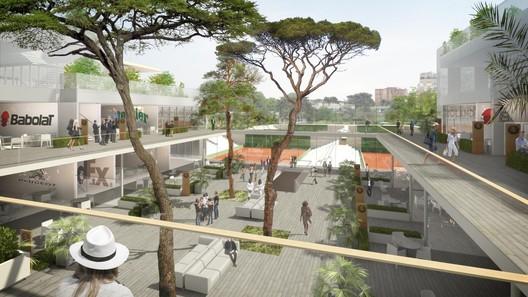 Roland Garros Village. Image © FFT / Architects: Atelier d'architecture Chaix & Morel and associates / ACD Girardet et associés / Paysagistes: Team Corajoud / Perspectiviste: 3dfabrique