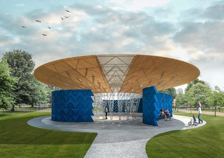 Serpentine Pavilion 2017, Designed by Francis Kéré, Design Render, Exterior. Image © Kéré Architecture