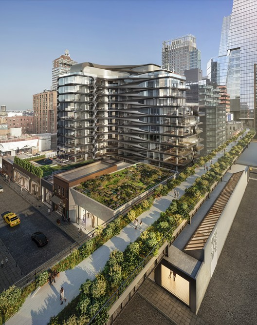 15 Gallery Spaces to Open in Base of Zaha Hadid's High Line Residential Building , Courtesy of Related Companies