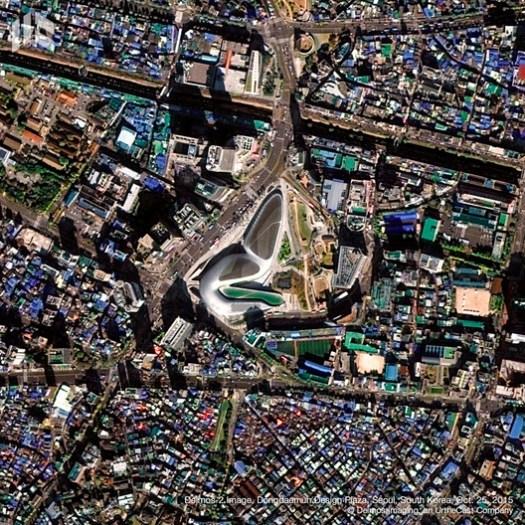 Plaza Dongdaemun. Image © Deimos Imaging