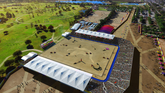 Valley Sports Park - Equestrian. Image Courtesy of LA 2024