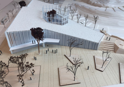 Presentation model of the Kulturkorgen. Image Courtesy of Sweco