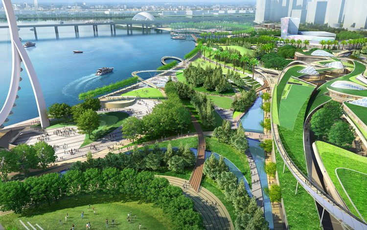 China's Shenzhen Waterfront to be Transformed by Laguarda.Low Masterplan, Courtesy of Laguarda.Low Architects
