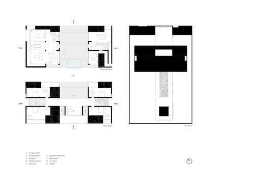 First and ground floor plans