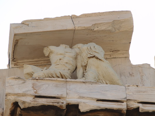 Sculptures of the Northwest Corner of the Pediment. Image © Wikipedia User: Ken Russell Salvador. Licensed Under CC BY-SA 2.0