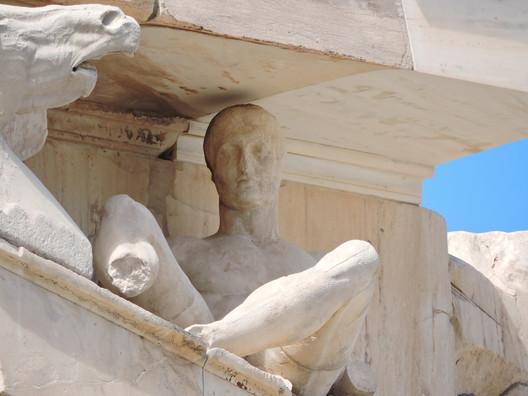 Eastern pediment. Image © Wikipedia User: Dimitris Kamaras. Licensed Under CC BY-SA 2.0