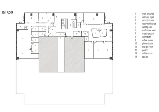 20th Floor Plan
