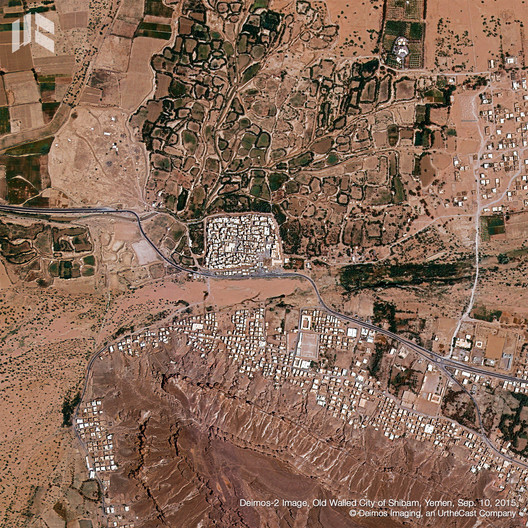 The Old Walled City of Shibam. Image © Deimos Imaging