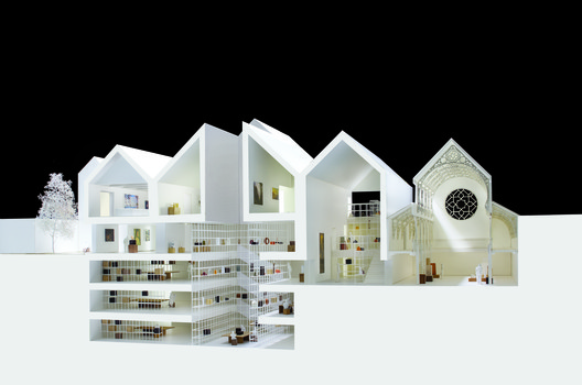 A model representing an earlier iteration of the design. Image Courtesy of Carmody Groarke