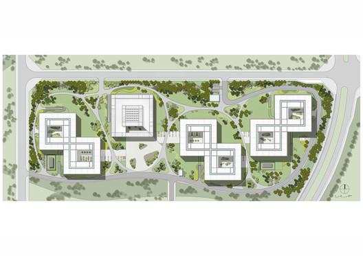 Site Plan. © gmp Architekten / RLA Rehwaldt Landschaftsarchitekten
