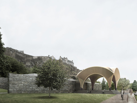 Adjaye Associates with Morgan McDonnell, BuroHappold Engineering, Plan A Consultants, JLL, Turley, Arup, Sandy Brown, Charcoalblue, AOC Archaeology, Studio LR, FMDC, Interserve and Thomas & Adamson. Image © Malcolm Reading Consultants / Adjaye Associates
