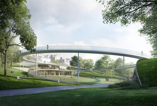 William Matthews Associates and Sou Fujimoto Architects with BuroHappold Engineering, GROSS.MAX., Purcell and Scott Hobbs Planning. Image © Malcolm Reading Consultants / William Matthews Associates and Sou Fujimoto Architects