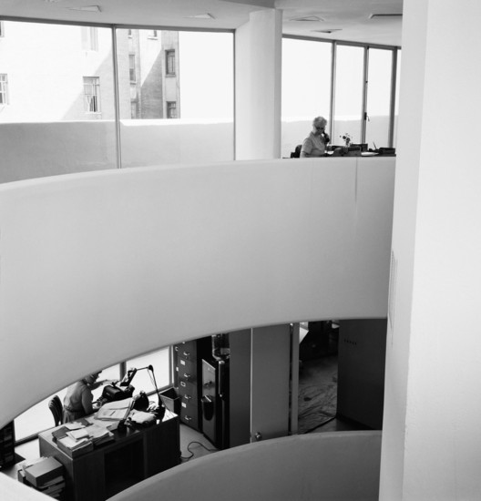 View from Level 4 of the Monitor of the original workspaces, ca. 1960. Image © Robert E. Mates