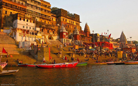 Riverside Ghats in Varanasi are set to receive a makeover under the mission. Image © <a href='https://commons.wikimedia.org/wiki/File:Varanasi-incredible-india.jpg'>Wikimedia user Unknown</a> licensed under <a href='https://creativecommons.org/licenses/by-sa/4.0/deed.en'>CC BY-SA 4.0</a>