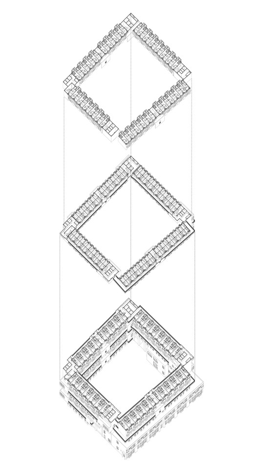 Building No.5 -Sectioned Axonometric Drawing