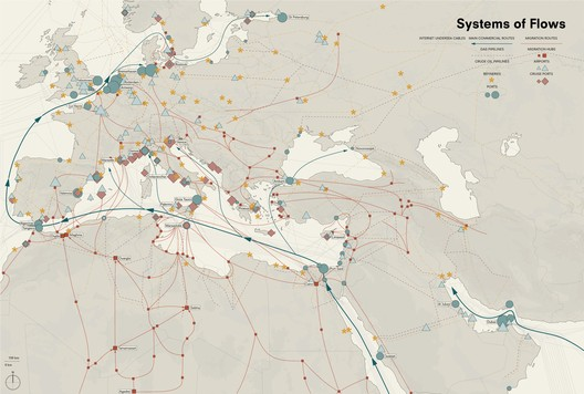Mediterranean System of Flows, Palermo Atlas. Image Courtesy of OMA