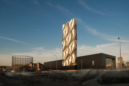 Production, Energy & Recycling: C.F. Mller Architects / Greenwich Peninsula Low Carbon Energy Centre. Image Courtesy of WAF