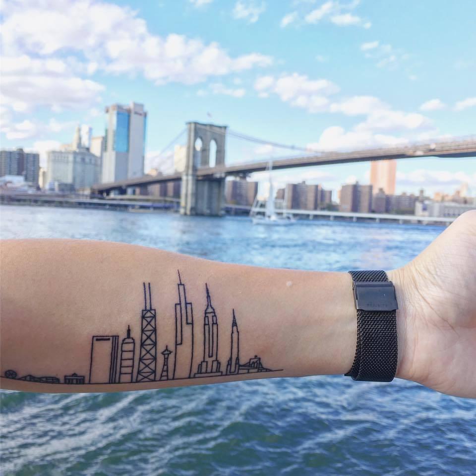 118 impresionantes tatuajes de arquitectura,Angela Ngo. <a href='https://www.facebook.com/photo.php?fbid=3053037964974&set=p.3053037964974&type=3&theater'>Via Facebook</a>