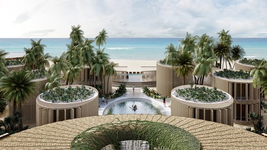 Leisure-led Development: Sordo Madaleno Arquitectos / Hotel Tulum. Image Courtesy of WAF