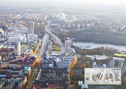 Masterplanning: White Arkitekter / Sodra Skanstull. Image Courtesy of WAF