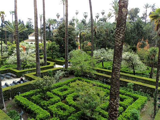 Alcázar of Seville: Sunspear and the Water Gardens. Image © Megan Fowler