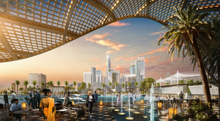 SOM Wins Competition to Master Plan Port City Colombo in Sri Lanka, © SOM | Meshroom