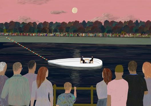 Performance on the river. Image © KOSMOS