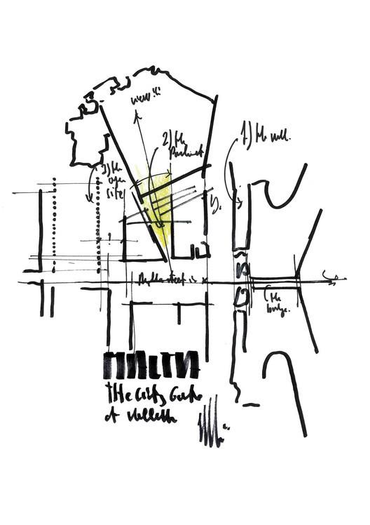 Sketch - Valletta's City Gate / Renzo Piano Building Workshop