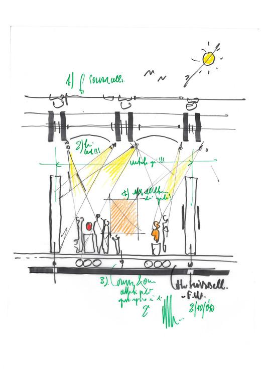 Sketch - Renzo Piano Pavilion at Kimbell Museum of Art / Renzo Piano + Kendall/Heaton Associates