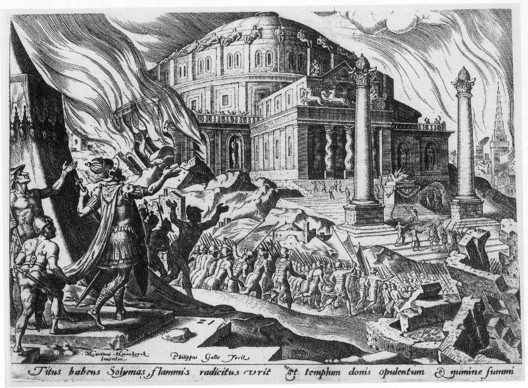 The Destruction of the Temple of Solomon, by Maarten van Heemskerck. From Freemasonry and the Enlightenment, by James Stevens Curl (Public Domain). Image