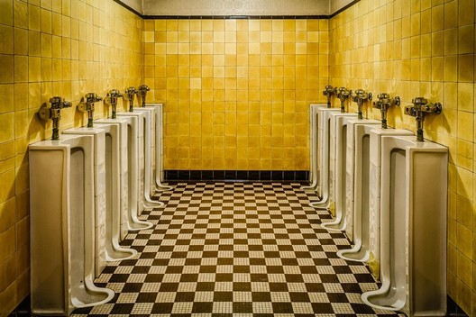 Men's room at The Fabulous Fox Theatre in St. Louis. Image <a href='https://www.reddit.com/r/AccidentalWesAnderson/comments/6m329p/mens_room_at_the_fabulous_fox_theatre_in_st_louis/'>via Reddit user heff66</a>