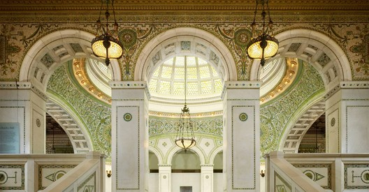 Chicago Cultural Center, home of the Chicago Architecture Biennial. Image Courtesy of Holabird & Root