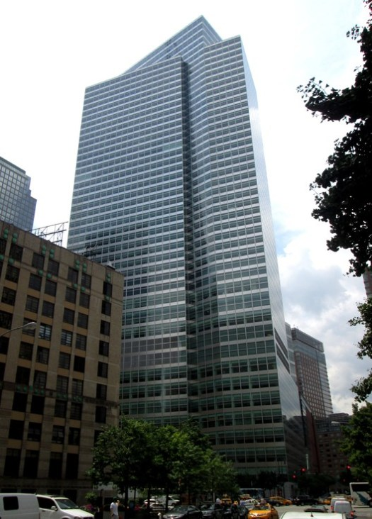 8. Goldman Sachs Headquarters, New York City ($2.1 billion). Image © <a href='https://commons.wikimedia.org/wiki/File:Goldman_Sachs_Tower_200_West_Street_Battery_Park_City.jpg'>Wikimedia user Beyond My Ken</a> licensed under <a href='https://creativecommons.org/licenses/by-sa/4.0/'>CC BY-SA 4.0</a>